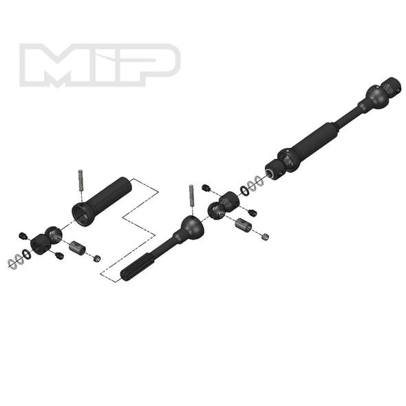 MIP X-Duty Center Drive Kit, 110x135mm w/5mm Hubs: Axial SCX10 Deadbolt 18120