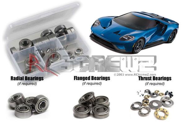 RC Screwz TRA080B Traxxas 4-Tec 2.0 Ford GT Metal Shielded Bearings Kit