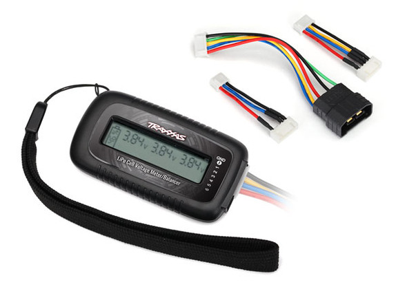Traxxas 2968X LiPo Cell Voltage Checker / Balancer w/ Adapter for iD Batteries