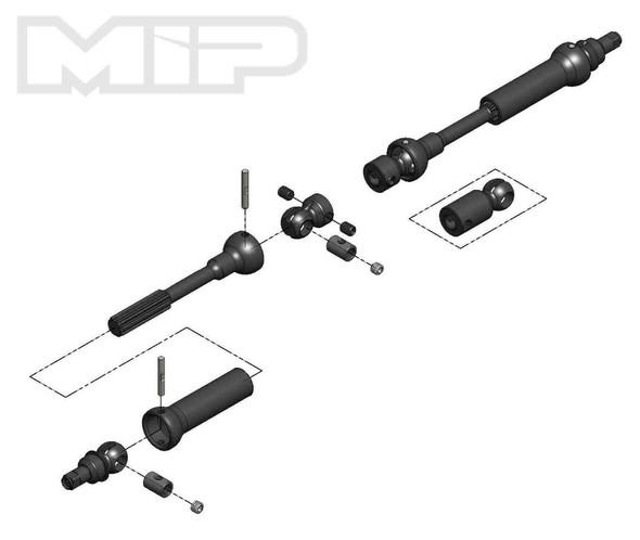 MIP X-Duty Center Drive Kit w/ 5mm Hubs: Vaterra K5/ K10 Ascender Bronco 18180