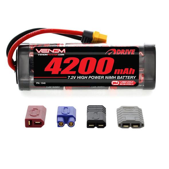 Venom 7.2V 4200mAh 6 Cell NiMH Battery w/ 2.0 Universal Plug System 1546