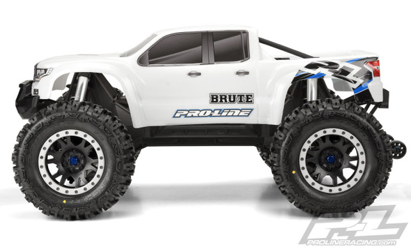 Pro-Line 3513-17 Pre-Cut Brute Bash Armor Body White : X-Maxx