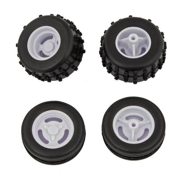 Associated 21438 Tires and Wheels Mounted : RC28