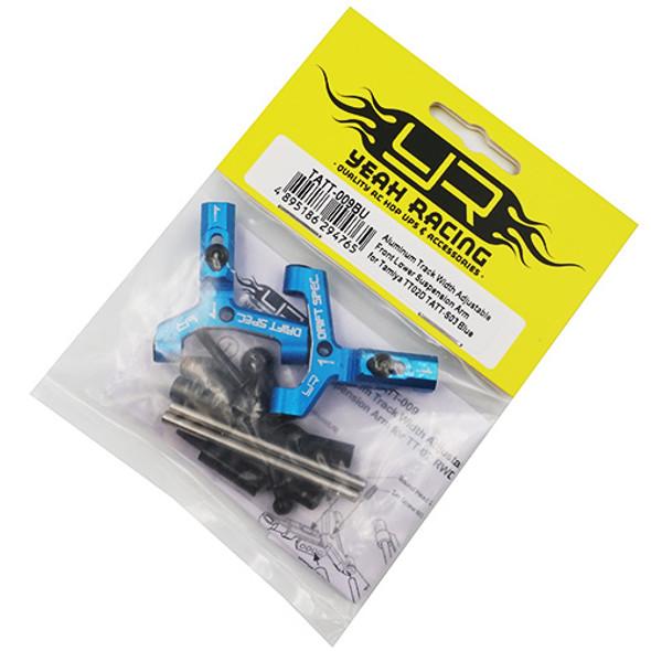 Yeah Racing TATT-009BU Alum Track w/Adjustable Frnt Lower Susp. Arm: Tamiya TT02D