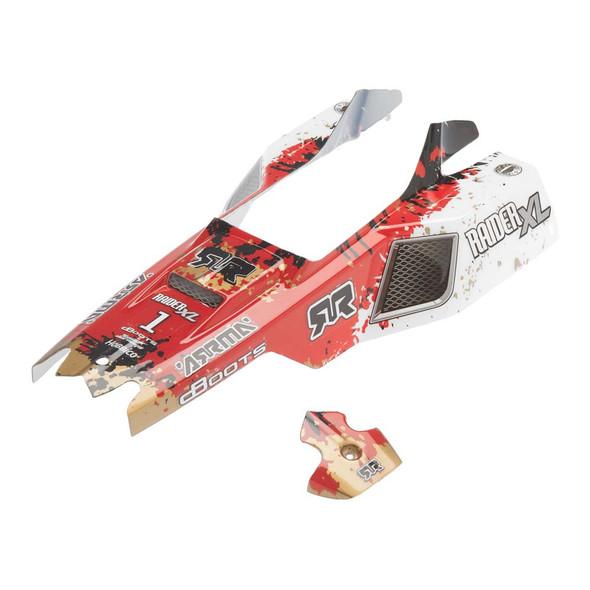 ARRMA AR402116 1/10 Red/White Body : Raider Mega XL  Buggy