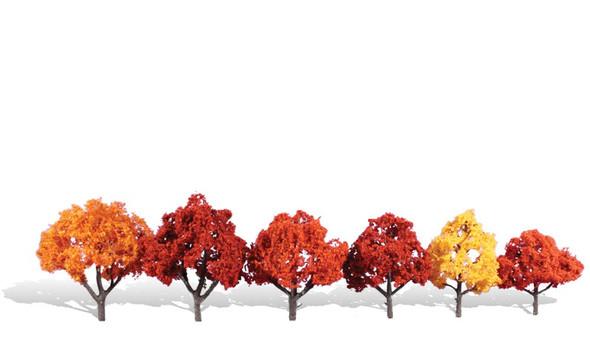 Woodland Scenics Harvest Blaze Trees 3-5in (6)