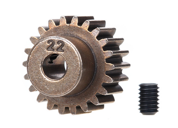Traxxas 2422 22 Tooth Steel Pinion Gear w/Set Screw 48 Pitch :4-Tec /Ford GT