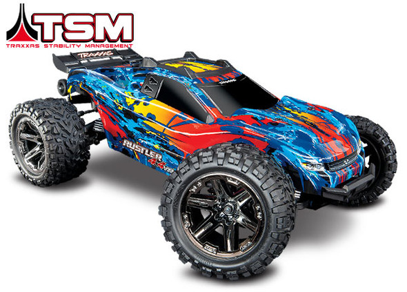 Traxxas 6717R Red Body w/Mounts & Support for Clipless Mounting : Rustler 4x4 VXL