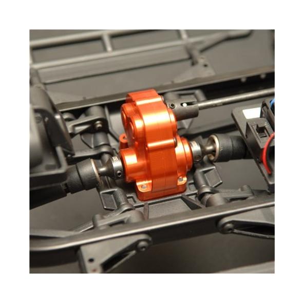 STRC STH116861CGM Aluminum HD Center Transmission Case : HPI Venture Gun Metal