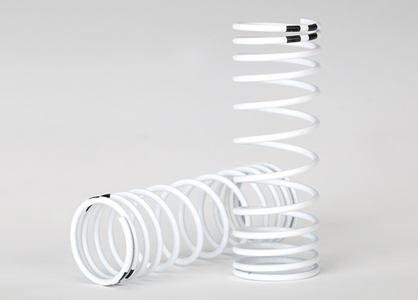 Traxxas 7458 Front Spring Shock White Progressive Rate (2) : Ford Fiesta ST Rally