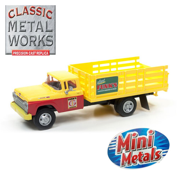 Classic Metal Works 30495 Mini Metals '60 Ford Stakebed Truck Funks Hybrids 1:87 HO