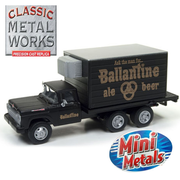 Classic Metal Works 30497 '60 Ford Refrigerated Box Truck Ballantine Beer 1:87 HO