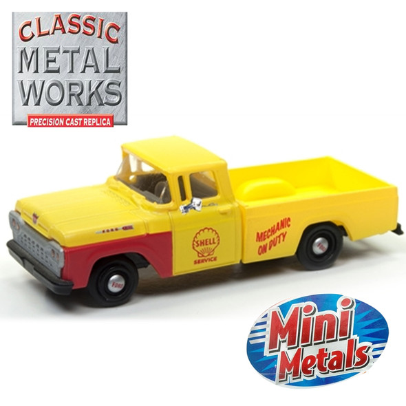 Classic Metal Works 30499 Mini Metals '60 Ford F-100 Pickup Shell Oil Service 1:87 HO