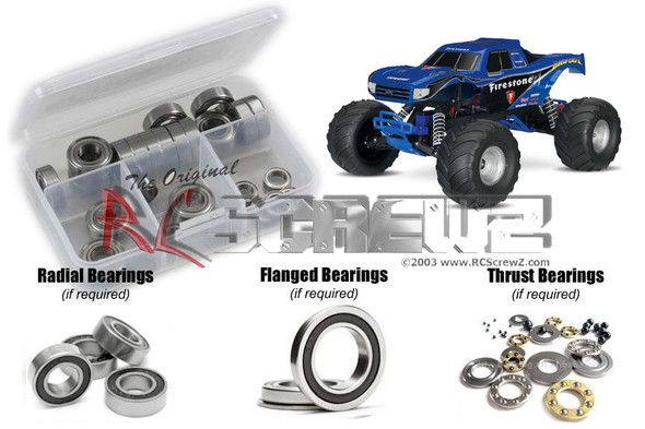RC Screwz TRA077R Traxxas Bigfoot 2wd 1/10th Rubber Shielded Bearings