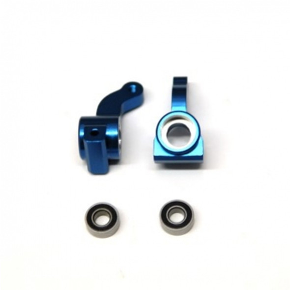 STRC Alum. Front Steering Knuckle w/larger outer bearing Blue (1 pair) : Granite/Raider