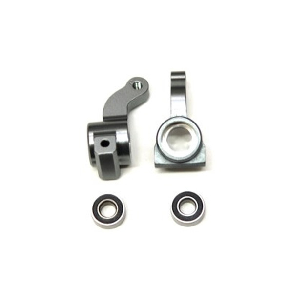 STRC Alum. Front Steering Knuckle w/larger outer bearing GM (1 pair) : Granite