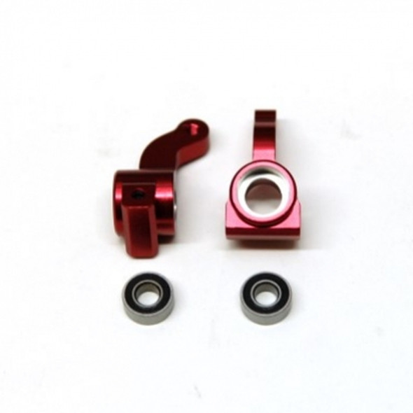 STRC Alum. Front Steering Knuckle w/larger outer bearing Red (1 pair) : Granite