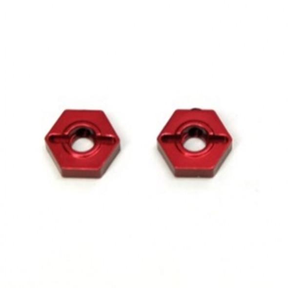 STRC Aluminum Front Hex Adapters (1 pair) Red : Granite/Raider/ XL/ Vorteks/ Fury