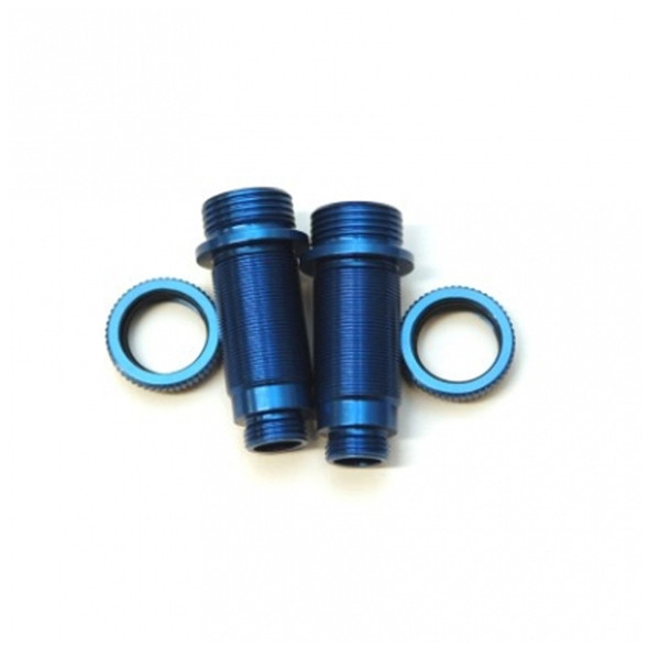 STRC Alum.Threaded Front Shock bodies w/O-ring collar Blue/Blue : Granite / Vorteks
