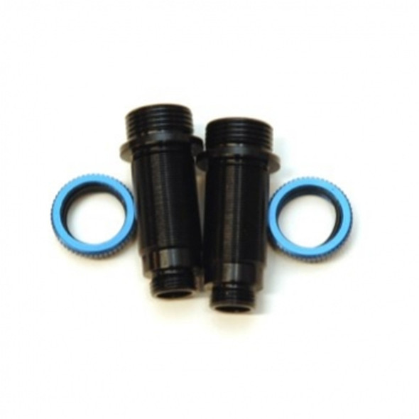 STRC Alum.Threaded Front Shock Bodies w/O-ring collar Black/Blue : Granite / Vorteks