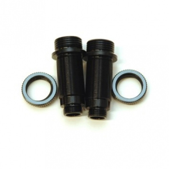 STRC Alum.Threaded Front Shock bodies w/O-ring collar Black/GM : Granite / Vorteks