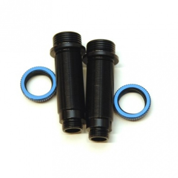 STRC Alum.Threaded Rear Shock bodies w/O-ring collar Black/Blue: Granite / Vorteks