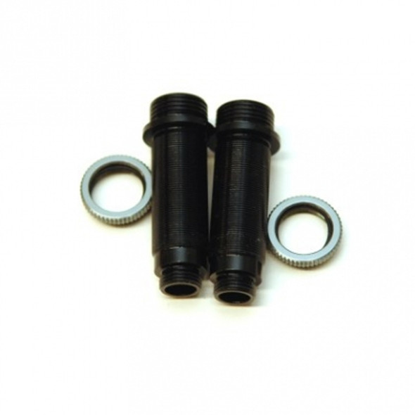 STRC Alum.Threaded Rear Shock bodies w/O-ring collar Black/GM : Granite / Vorteks