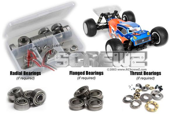 RC Screwz TEK018B Tekno ET410 Truggy 1/10th Metal Shielded Bearing Kit