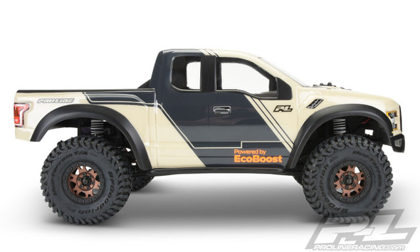 "Pro-Line 3516-00 Clear Body 2017 Ford F-150 Raptor : SCX10 & 12.3"" Wheelbase Crawlers"