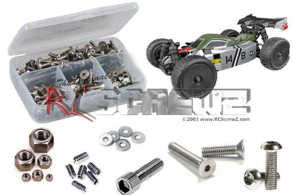 RC Screwz ASS098 Associated Reflex 14B 1/14th Stainless Screw Kit