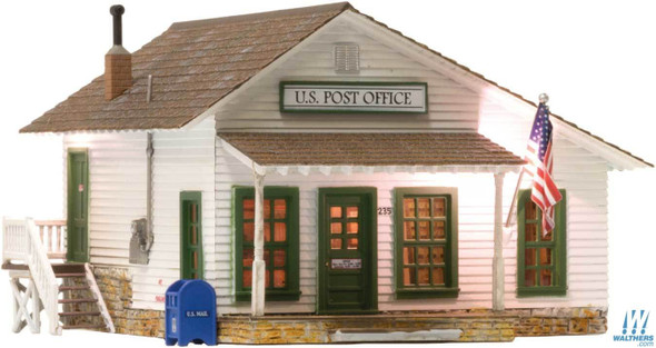 Woodland Scenics Letters Parcels & Post Built & Ready(R) Landmark Structures(R) O Scale