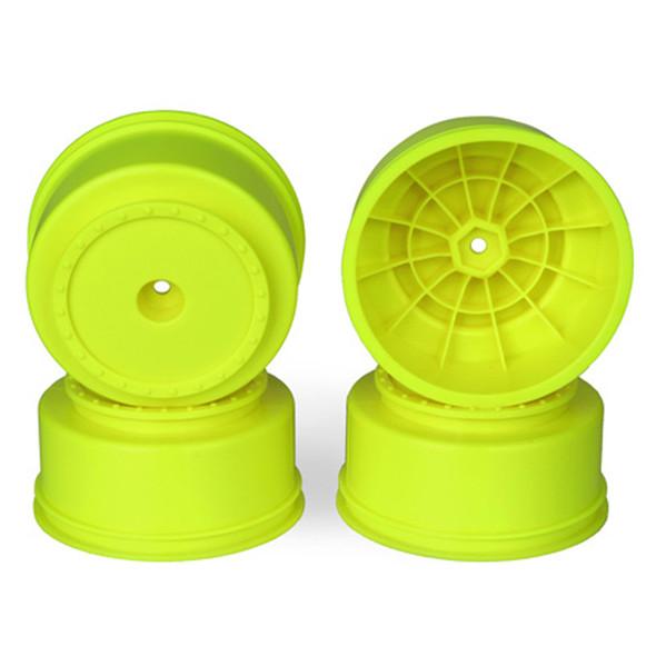 DE Racing Borrego SC Yellow Wheels (4) : Associated SC5M - SC10 - ProSC / +3mm