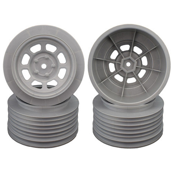 DE Racing Speedway SC Silver Wheel (4) : Associated SC5M / SC10 /+3mm / 29mm BKSP