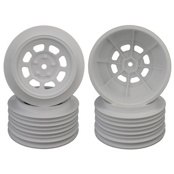 DE Racing Speedway SC White Wheel (4) : Associated SC5M / SC10 /+3mm / 29mm BKSP