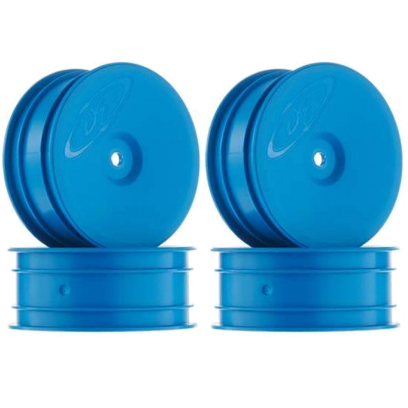 DE Racing Speedline Front Buggy Blue Wheels (4Pcs) : Associated B6.1 / Kyosho RB6