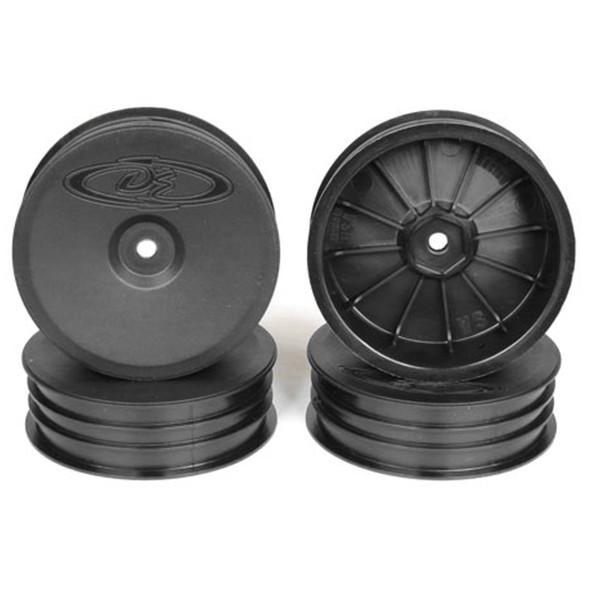 DE Racing Slim Speedline Front Black Buggy Wheels (4Pcs) : ASC B6/B6D / KYO RB6