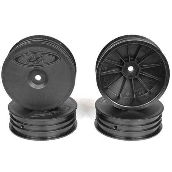DE Racing Slim Speedline Front Black Buggy Wheels (4Pcs) : TLR 22 3.0 / 4.0