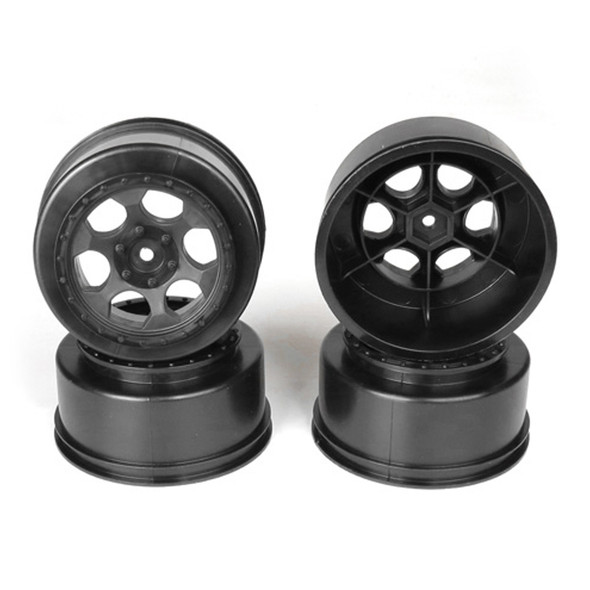 DE Racing Trinidad SC Black Wheel (4) : Associated SC5M / SC10 / ProSC/+3mm