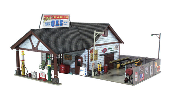 Woodland Scenics Ethyl's Gas / Service O Built and Ready BR5849