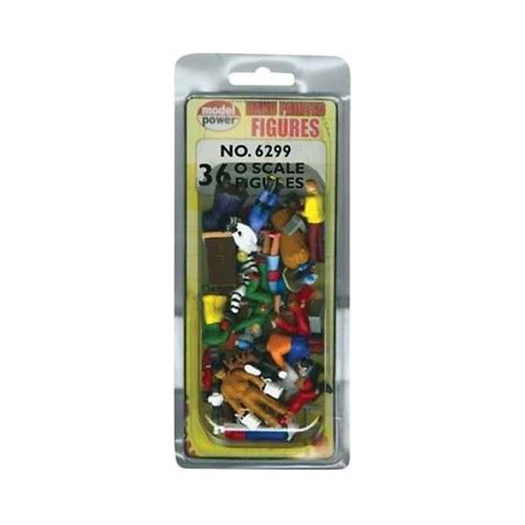 Model Power 36 Painted Figures O Train Figures 6299
