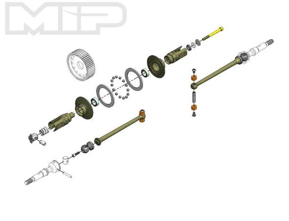 MIP Pucks 17.5 Drive System, 67mm : Team Associated B6.1D 18200