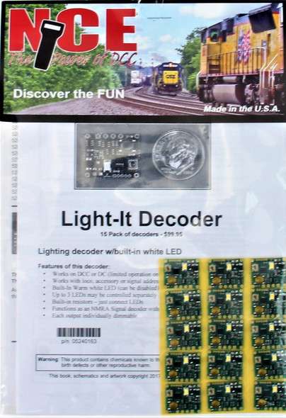 NCE 5240163 Light It-6 Universal Lighting & Signal Decoder 15 Pack