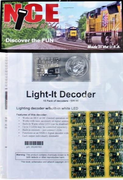 NCE 5240163 Light It-6 Universal Lighting & Signal Decoder 15 Pack