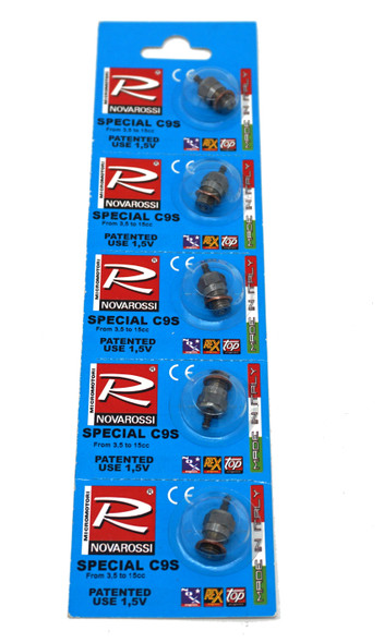 Novarossi C9S Off-Rd Standard Special Ultra Cold Fuel Glow Plugs (5)