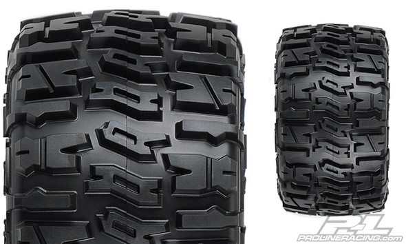 """Pro-Line 1170-10 Trencher 2.8"""" Tires Mounted Black Wheels : Stampede / Ruster"""
