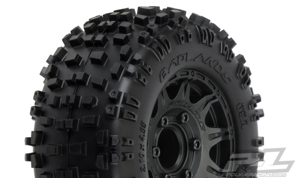 "Pro-Line 1173-10 Badlands 2.8"" All Terrain Tires/Wheels Mounted : Stampede/Rustler 2wd & 4wd Front & Rear"
