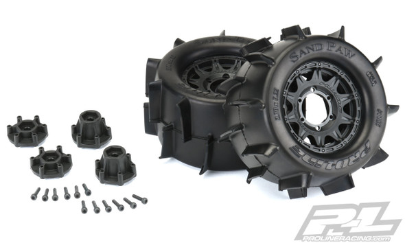 """Pro-Line 1186-10 Sand Paw 2.8"""" All Terrain Tires/Wheels Mounted : Stampede/Rustler 2wd & 4wd Front & Rear"""