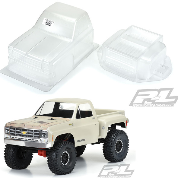 Pro-Line 3522-00 1978 Chevy K-10 Clear Body Cab & Bed : Axial SCX10 / Vaterra Ascender