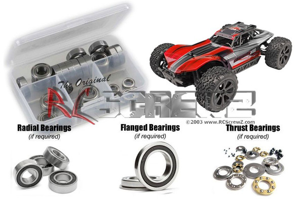RC Screwz RCR048R RedCat Blackout XBe 1/10th Rubber Shielded Bearings Kit