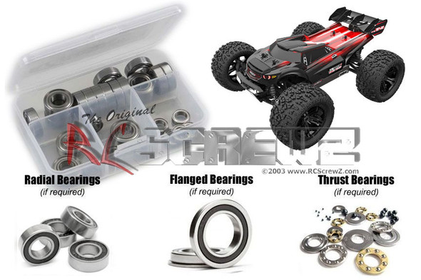 RC Screwz RCR061R RedCat TR-MT8e BE6S Rubber Shielded Bearings Kit